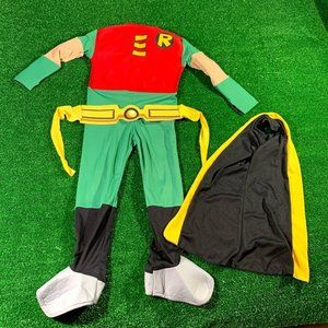DC Comic Kids Robin Cosplay Costume Size S EUC